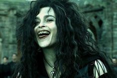 Bellatrix from Harry potter. the teeth were the last straw.