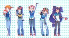 So kawaii especially may and seerena Ash Pokemon, Iris Pokemon, Pokemon Ash And Serena, Pokemon People, Pikachu, Pokemon Ships, Pokemon Comics, Pokemon Funny, Pokemon Memes