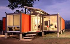 Interesting Design Of The Conex Box Homes For Sale That Has Warm Nuance Can Be Decor With Glasses Door Can Add The Beauty