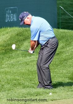 Mark O'Meara. Practice round with Fred Couples. Monday. Emirates GC ...