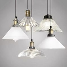 A versatile and easily adaptable pendant light made out of glass. This is reminiscent art deco but new vintage lighting that can add instant rustic charm. Flush Mount Lighting, Home Lighting, Chandelier Lighting, Chandeliers, Kitchen Lighting, Island Lighting, Cabin Lighting, Kitchen Lamps, Kitchen Redo