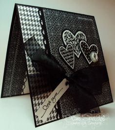Valentines Day with StampIn UP product   Valentine's Day Cards (Pin#1: Mono:- Black & White... Pin+: Valentines-Masculine)