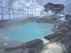 Mt. Zao onsen in the snow / 蔵王温泉大露天風呂 山形