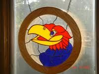 stained glass jayhawk - Google Search