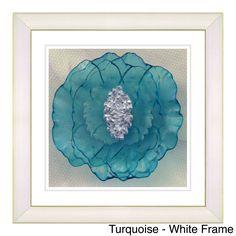 Studio Works Modern 'Crystal Flower' Framed Fine Art Print