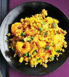 Shrimp & Vegetable Paella with Saffron