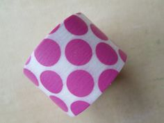 Washi Tape  Single Roll  White with Large Pink by HazalsBazaar, $5.00