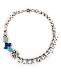 Look at this #zulilyfind! Rhinestone & Blue Eloise Statement Necklace by Sparklepop #zulilyfinds