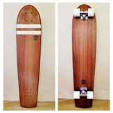 THE LOGGER - Handmade rare eco-friendly longboard logger in solid Red Carrabeen with white stripe inlay