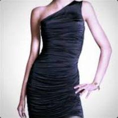 H&M One Shoulder Cinched Dress - Size Xs