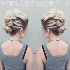 Super cool bunzy faux hawk to spice up my boring outfit today  inspired by my…