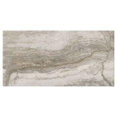 Travertino Grigio Porcelain Tile - 16in. x 32in. | Floor and Decor