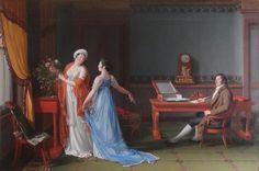 François-André Vincent (1746-1816) Portrait du comte de La Forest, de sa femme et de sa fille, 1804 Huile sur toile - 130 x 196 cm Karlsruhe, Staatliche Kunstalle
