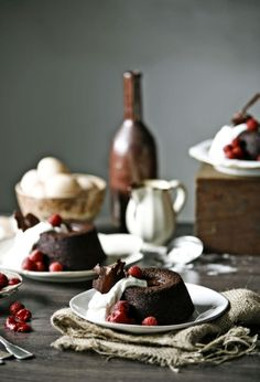 Chocolate and Baileys Cakes | Pratos e Travessas