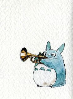 Oh look, it's a rabbit playing a trumpet