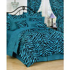 Zebra Animal Bedding: Pink Green Blue Purple Zebra bed setsf ...