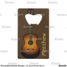 Personalized Guitar Design Bottle Opener
