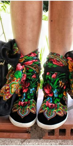 Russy's Russian Inspired Pavloposad Scarf Shoes