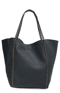 Free shipping and returns on Phase 3 Chain Faux Leather Tote at Nordstrom.com. Chain-link trim adds a hint of moto edge to a spacious, relaxed tote shaped from richly textured faux leather.