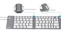 Best Aluminium Alloy Folding iPhone Samsung iPad Air Mini PC Notebook Bluetooth Keyboard PKB02_18