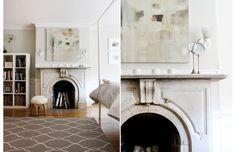 Jill Rosenwald rug; mantle