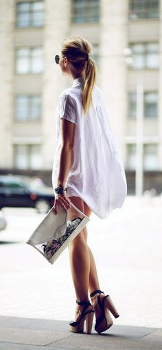 #summer #fashion / shirt dress