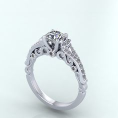 diamond engagement ring hand made with by fabiandiamonds on Etsy for more great ideas visit us at @ www.fabiandiamonds.com