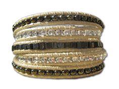 Handmade Wrap Bracelet in Creme & Neutrals