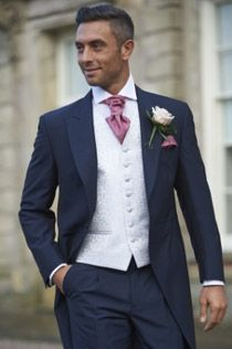 Navy Tails Wedding Suit Hire