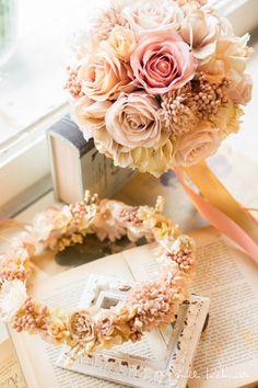 Peach color wedding theme