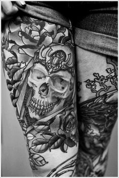 Thigh Tattoos for Women: Thigh Tattoos Ideas For Women ~ Tattoo Design Inspiration