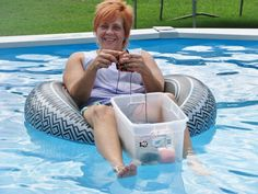 crocheting in the pool!