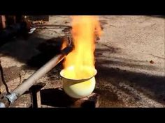 How to Convert Grany's old Piss pot into a waste Oil burner. Using some old exhaust pipe with a small plate welded over the end, I made a waste oil burner th. Blacksmith Tools, Blacksmith Projects, Welding Projects, Diy Rocket Stove, Rocket Stoves, Waste Oil Burner, Forge Burner, Oil Heater, Power Hammer