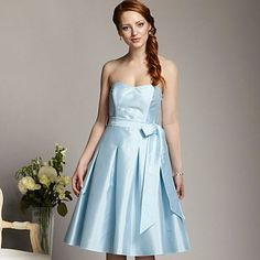 Pale blue is cute.  And good for redheads, eh?