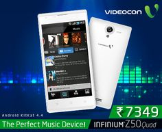 If #music is your religion, then #Videocon Infinium Z50Quad is the perfect device for you! - http://www.videoconmobiles.com/z50quad