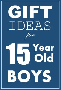 Inexpensive Gift Ideas for 15 and 16 year old boys.