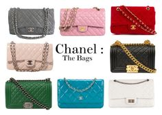 """""""Chanel Bags"""" by daniellejosephinevogue ❤ liked on Polyvore featuring Chanel"""