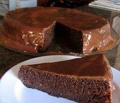 Receita de Tentação de chocolate – bolo de chocolate sem farinha