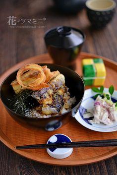 ごぼなす天丼 - vegetable Tennpura bowl.