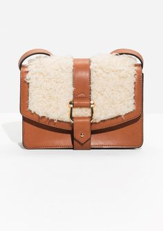 & Other Stories | Faux Shearling And Leather Crossbody