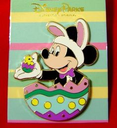Disney Pins..Celebrate Easter with Mickey and Friends Pin. Direct from the Disney Magic Kingdom Theme Park to you