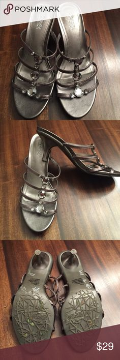 Kenneth Cole reaction pewter  sandals 7m Kenneth Cole Reaction pewter silver sandals size 7m these were worn one time   No boxin excellent condition Kenneth Cole Reaction Shoes Sandals