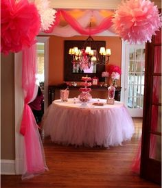 Tutu table skirt!! great for a paris themed birthday party!
