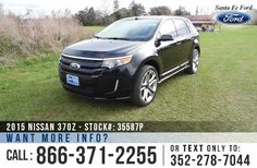 2013 Ford Edge Sport - V6 3.7L Engine - Keypad Door Lock - Alloy Wheels - Spoiler - Tinted Windows - Leather Seats - Safety Airbags - Powered Windows, Locks, Mirrors and Driver Seat - AM/FM/CD/MP3 - SIRIUS Satellite - Touch Screen - iPod/Aux Jack - USB Port - Bluetooth - SYNC by Microsoft - GPS/Navigation - Digital Compass - Outside Temperature Display - Heated Front Seats - HomeLink - Backup Camera - Cruise Control - Ambient Lighting - Sony Sound System - SD Card Reader - Memory Seat and…