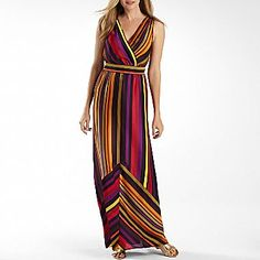 Worthington Striped Colorblock Maxi Dress - jcpenney