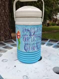 painted cooler jug chi omega