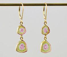 18K gold beautiful drop earrings