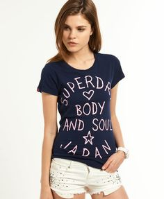 Womens - Body and Soul T-shirt in Nautical Navy | Superdry