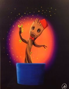 """I Am Who"" Groot/Doctor Who mashup by Charles Thurston, signed 11X14 print"
