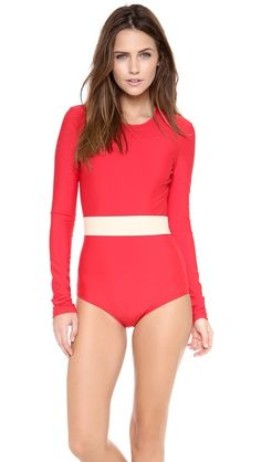 Cover Long Sleeve One Piece Swimsuit; for those cold swim days